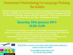 MMLT language teachers training meeting Plymouth