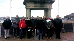Students from Germany IDUMO Mayflower Steps