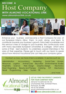 Host Company Flyer_Almond Vocational Link