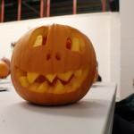 Language Cafe Carving Pumpkins