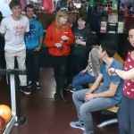 Almond's students bowling at Tenpin Plymouth