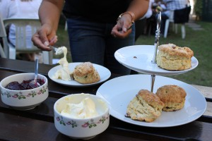 Traditional English Cream Tea Almond Vocational Link Social Event Plymouth UK