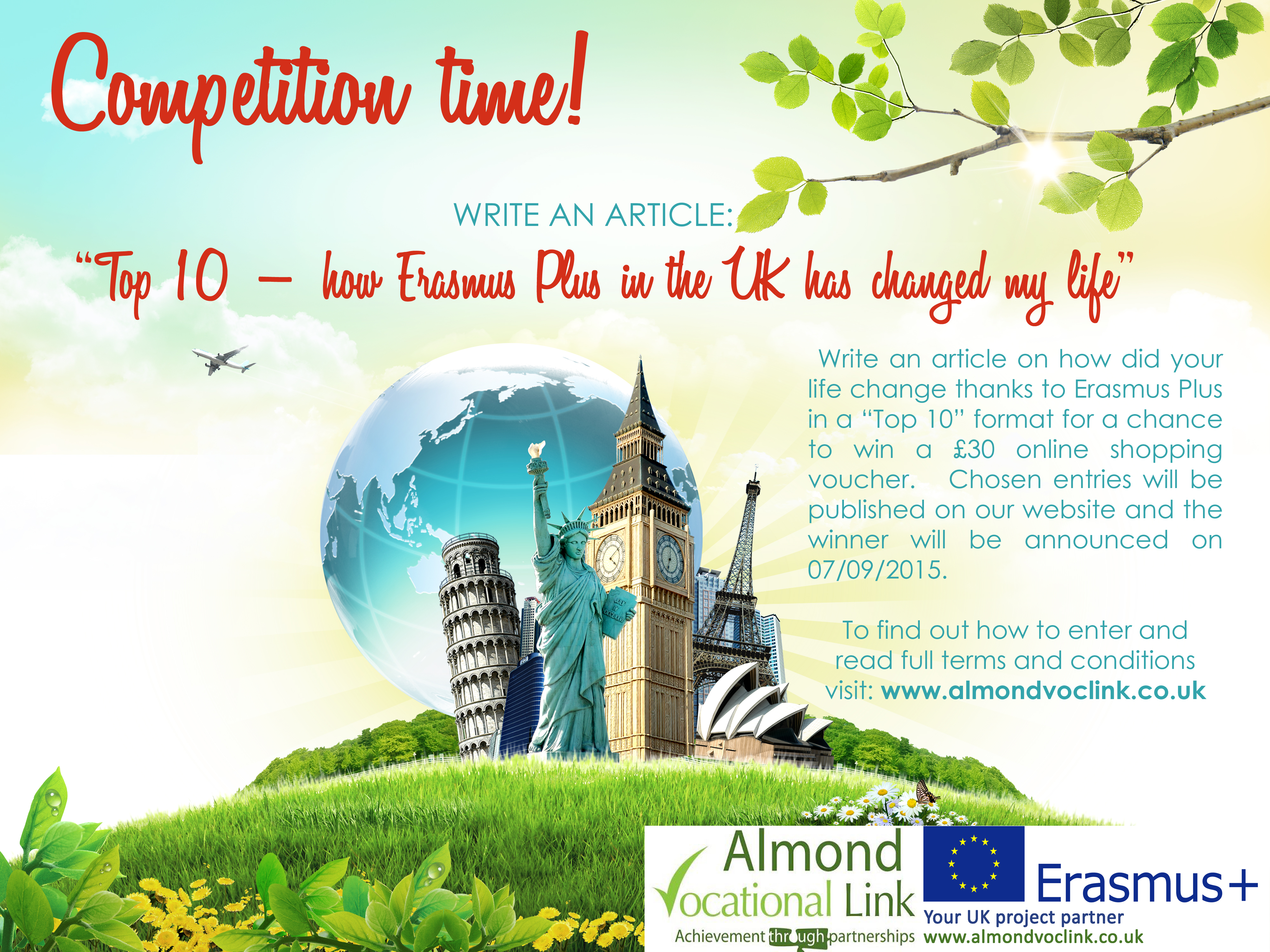 Almond Vocational Link Erasmus Plus Competition Poster