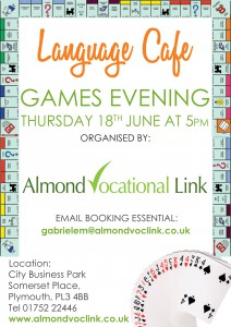 Language Cafe Plymouth Games Evening Almond Vocational Link
