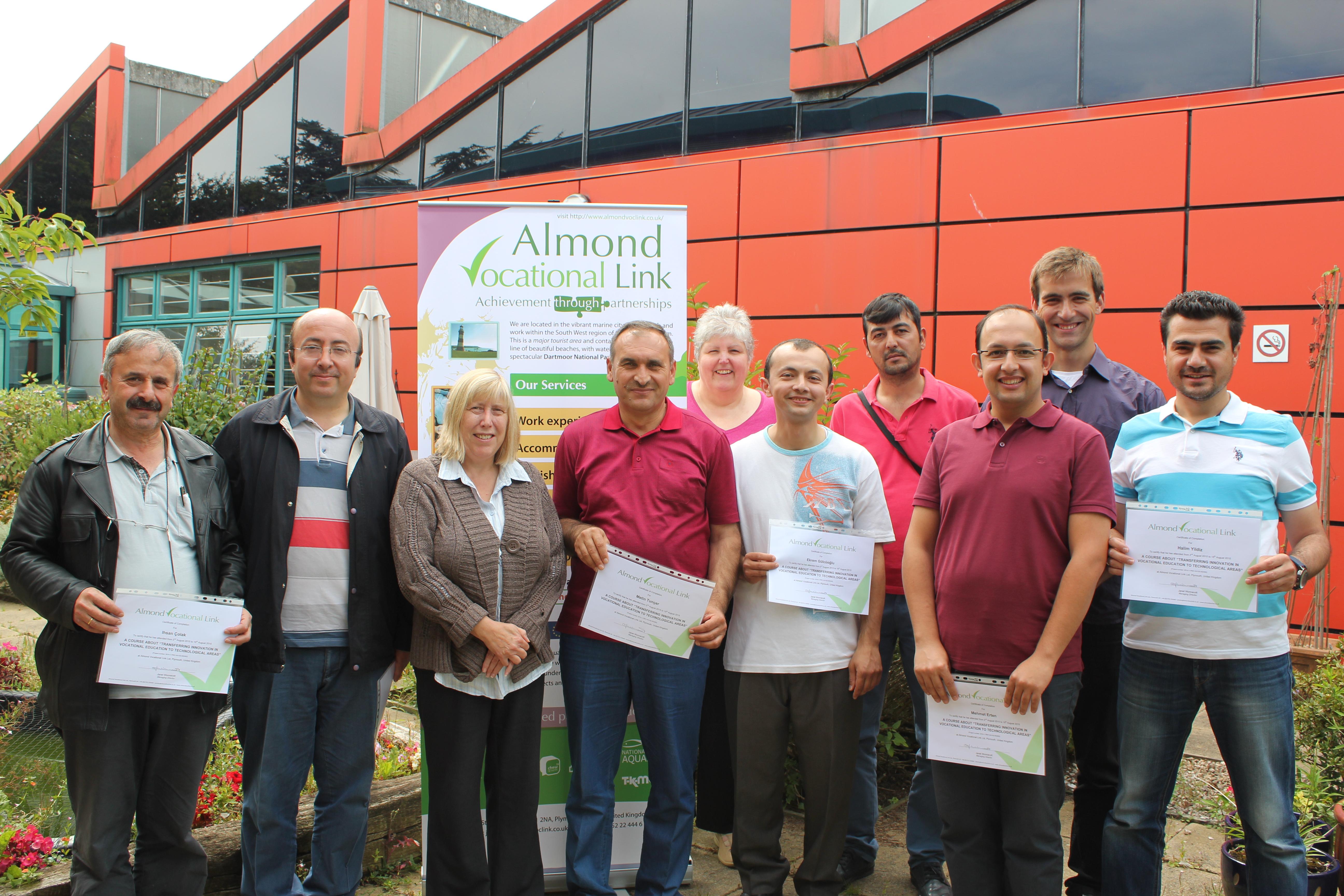 Erasmus Plus KA1 Project Turkish Partners Plymouth UK Almond Vocational Link