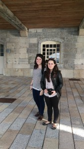 Sophia and Catia during 10 month Erasmus Plus Plymouth UK Almond Vocational Link