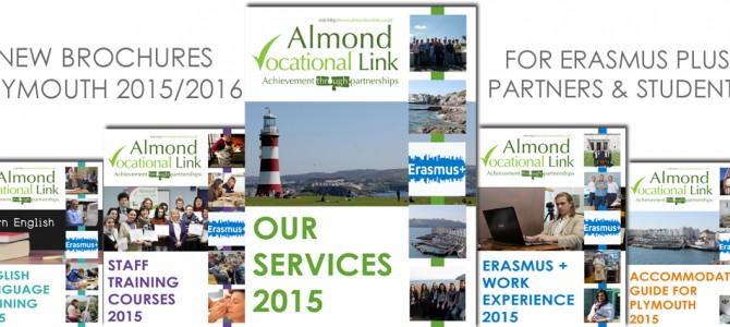 NEW Information Brochures for Erasmus Plus Key Action 1 Mobilities in Plymouth UK