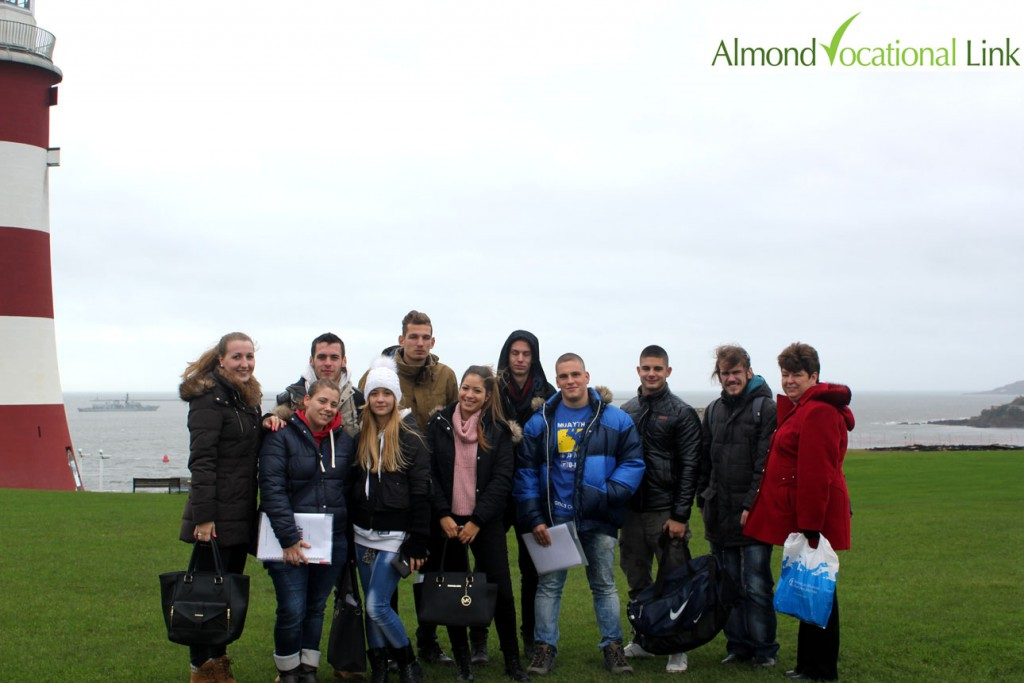 Almond Vocational Link UK Erasmus Plus Welcome Tour Plymouth 1