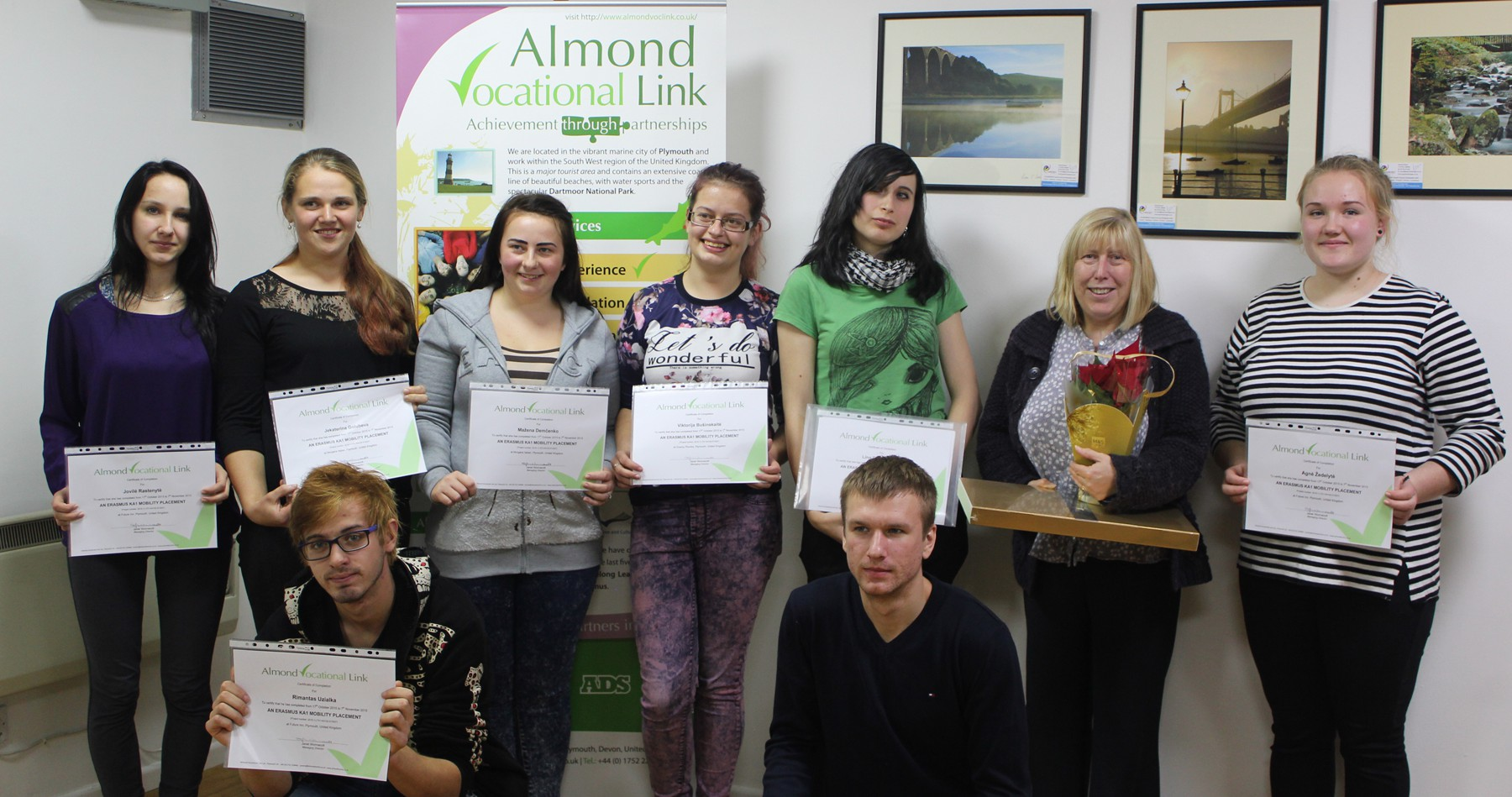 Certificate Ceremony Almond Vocational Link Plymouth Erasmus Plus