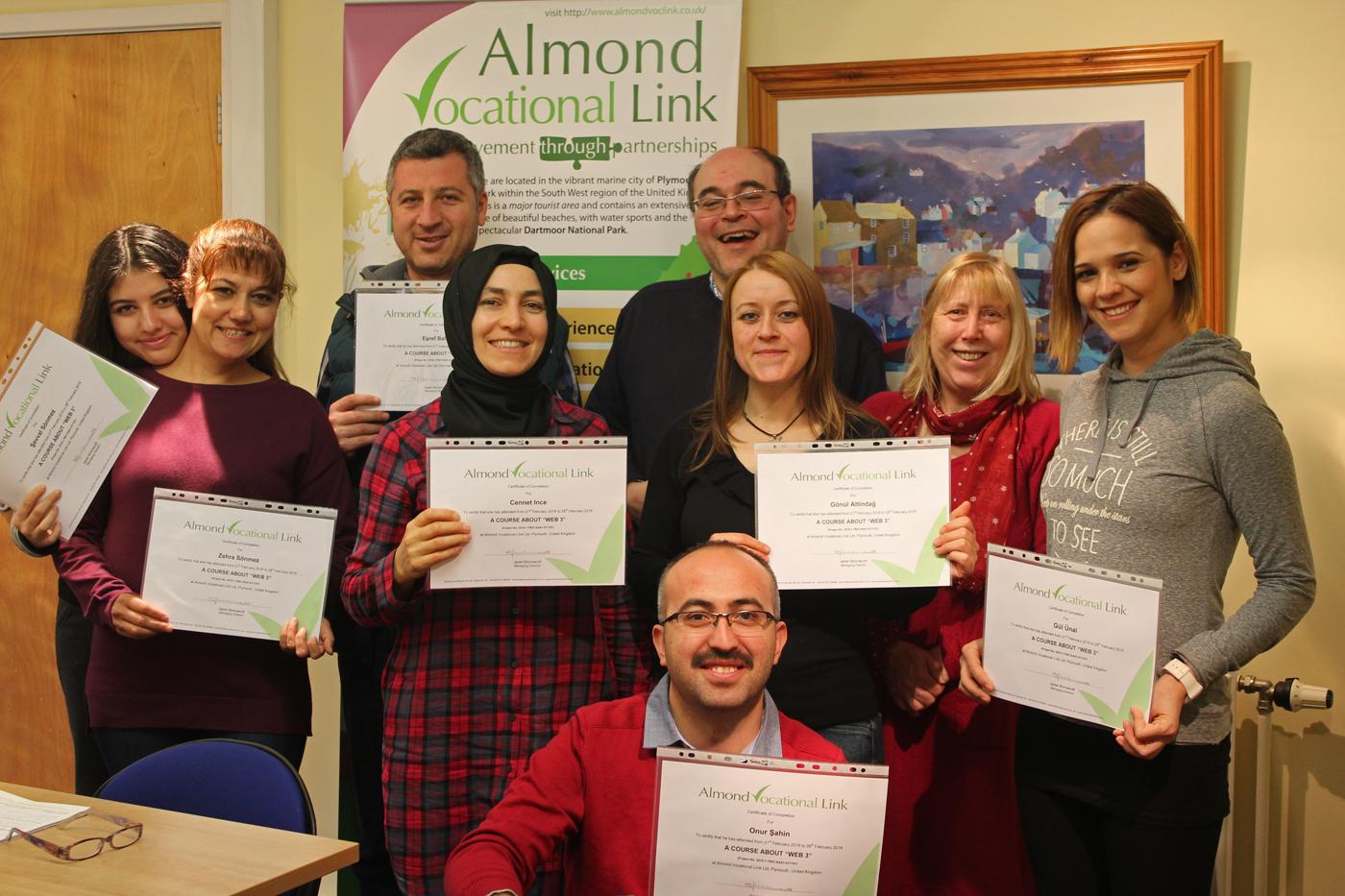 Certificate Ceremony Almond Vocational Link Erasmus Plus KA1 Teacher Training WEB 3