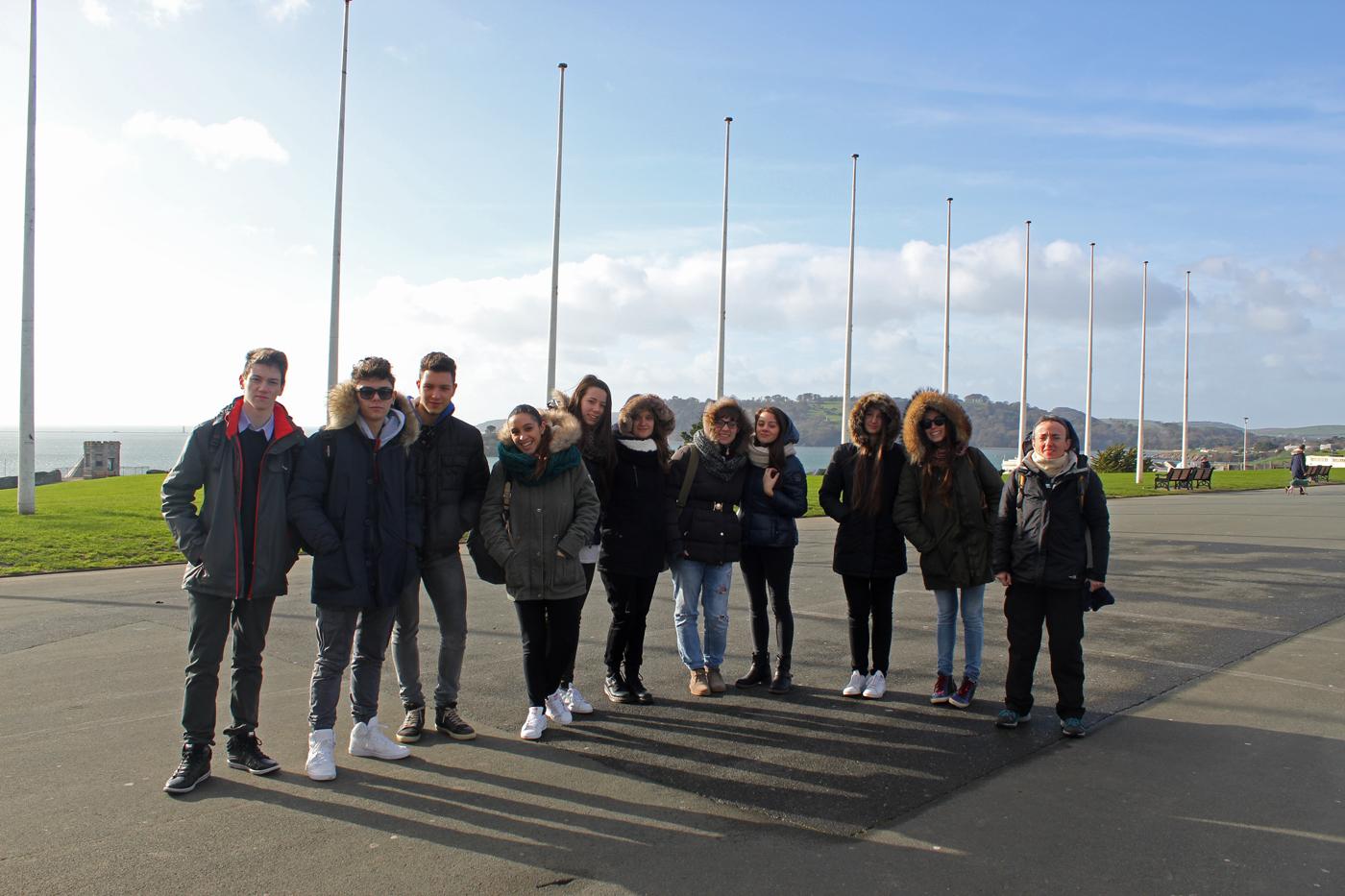 Erasmus Plus KA1 UK Welcome Visist Plymouth Hoe Almond Vocational Link