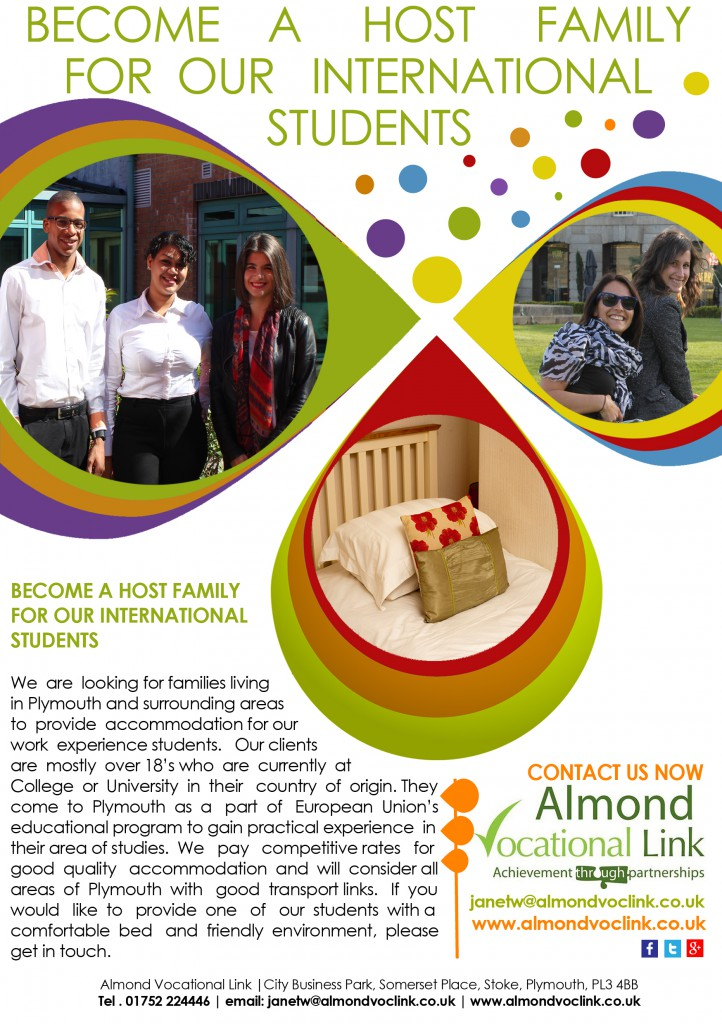Host Family Almond Vocational Link Plymouth UK