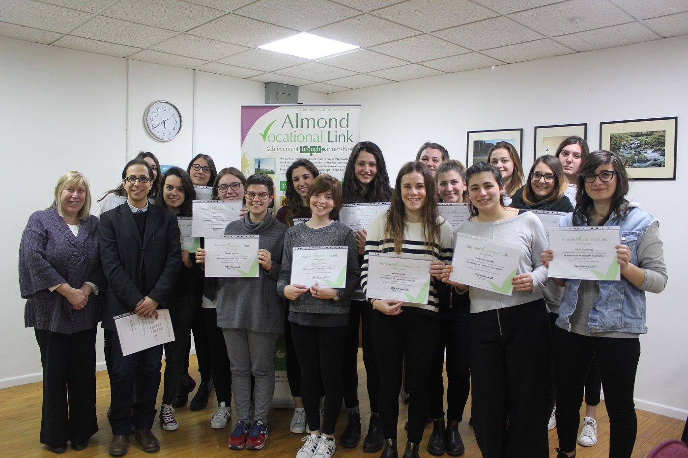Erasmus Plus Certificate Ceremony Almond Vocational Link Plymouth UK