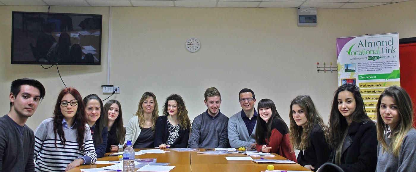 Evaluation Meeting Almond Vocational Link Erasmus Plus Plymouth UK