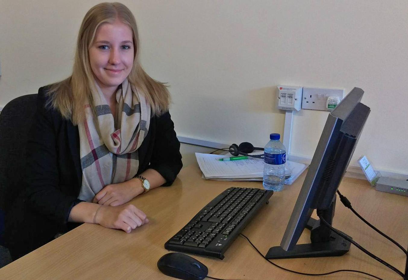 Karina Schmid Erasmus Plus intern Almond Vocational Link