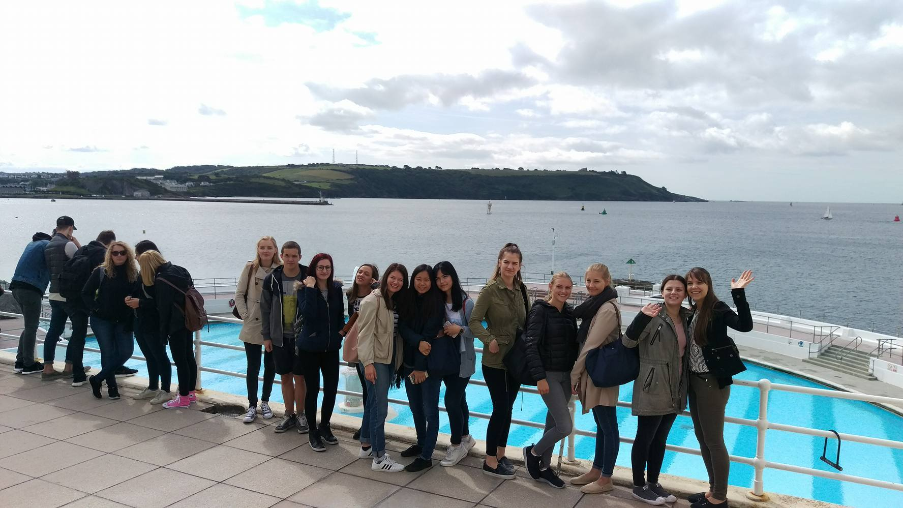 Welcome Tour Plymouth Tinside Lido Erasmus Plus UK Almond Vocational Link