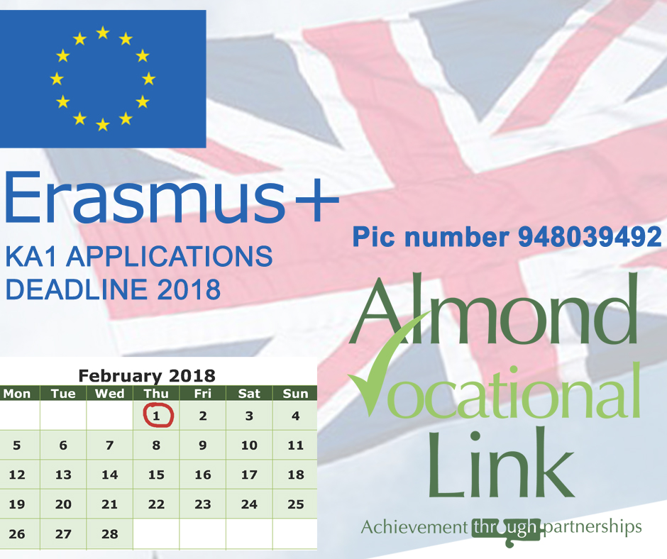 Erasmus+ KA1 Applications deadline 2018